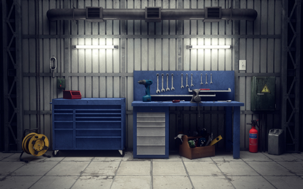 Werkstatt in der Garage