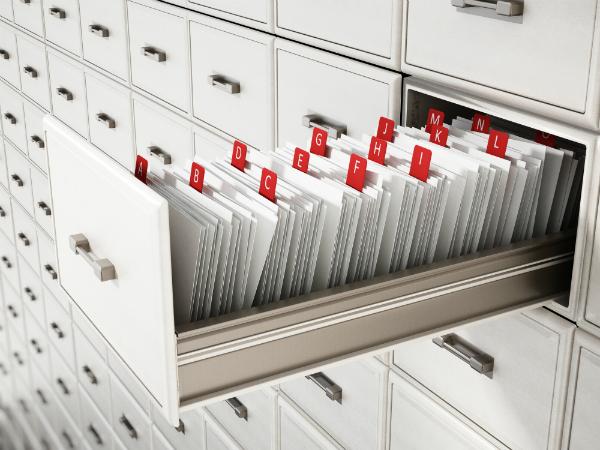 Organisation der Archivregale