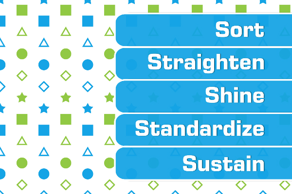 Sort Straighten Shine Standardize Sustain