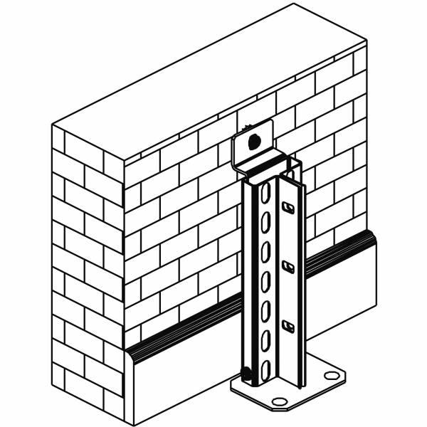 Wandbefestigungsset Steck/Schraub